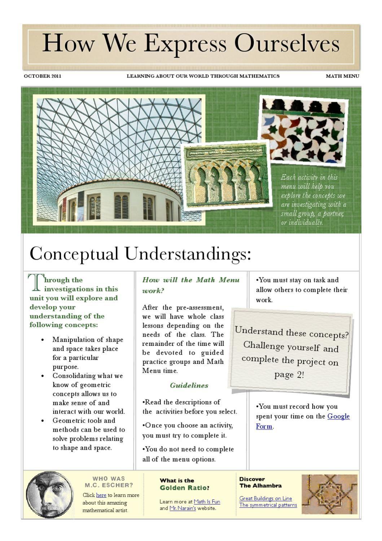 Math Menu Transformational Geometry Differentiation Math Math Conceptual Understanding [ 1500 x 1059 Pixel ]