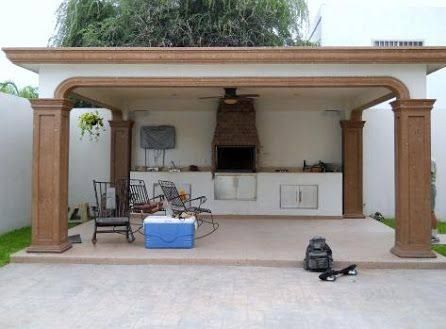 Resultado de imagen para jardin con asador de carne casa for Asadores de ladrillo para jardin