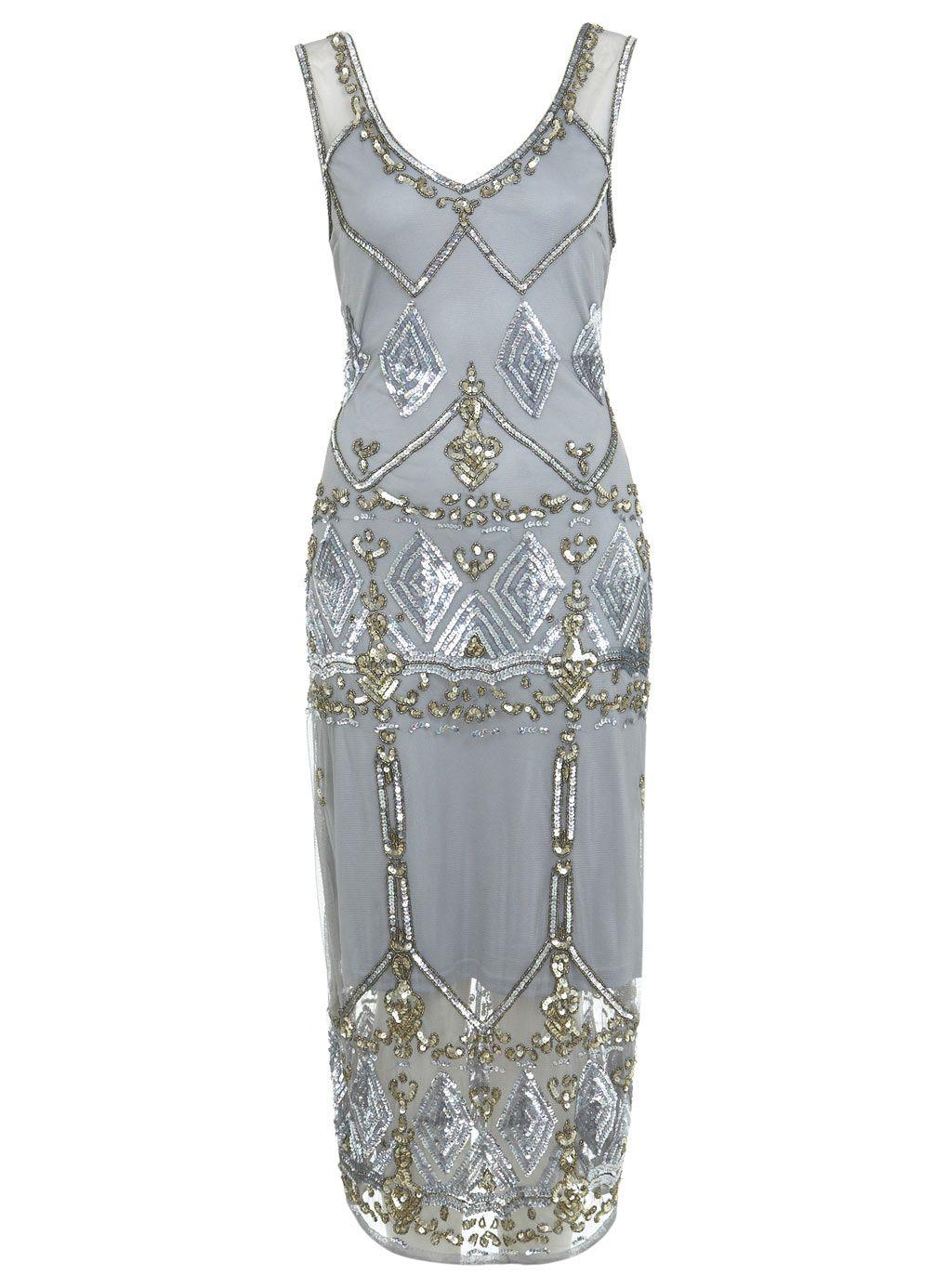 Miss selfridge lurex maxi dress