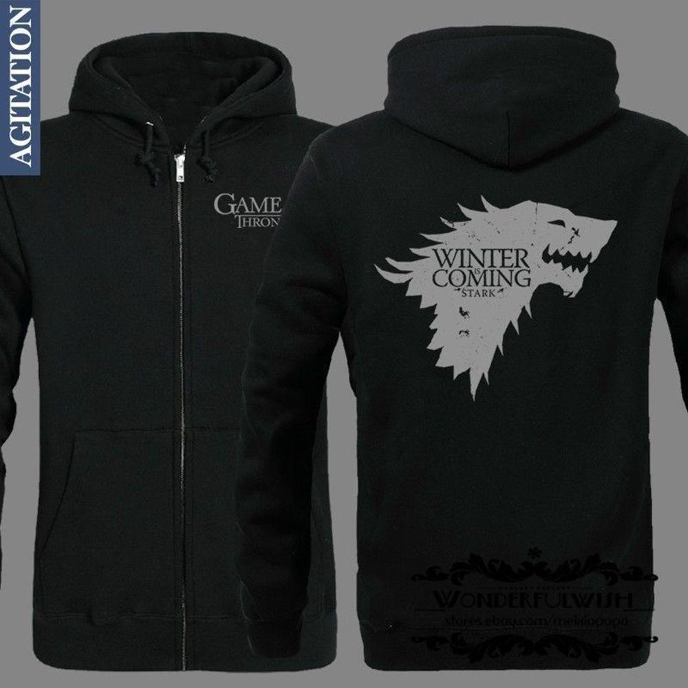 New Game Of Thrones Cosplay Hoodies Coat Jacket Black Ebay Hoodie Coat Hoodies Sweatshirts Hoodie