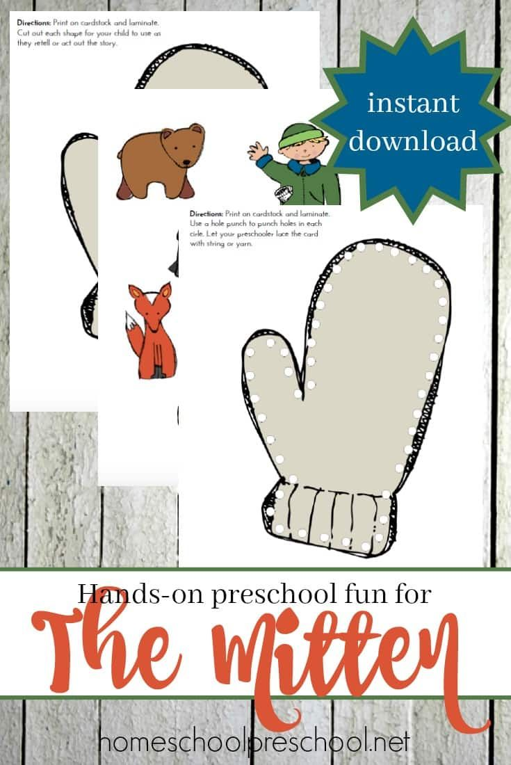 Free Handson Fun For Your Preschoolers To Use With Jan Brett's The Mitten!