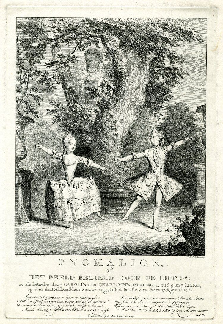 Theatre Scene With A Girl And A Boy (a Dressed Up Girl) Dancing In