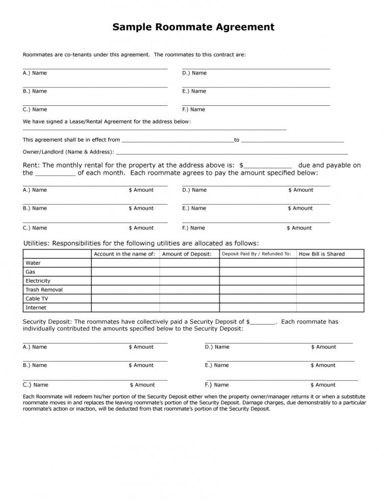 Download Roommate Agreement Template 04 In 2020 Roommate Agreement Roommate Agreement Template Roommate Contract