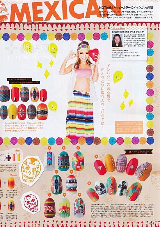mexican nail art...REALLY?! | Nail Designs | Pinterest | Mexican ...