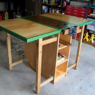 Wondrous Drop Leaf Mobile Workbench I Made Design From Wood Magazine Andrewgaddart Wooden Chair Designs For Living Room Andrewgaddartcom