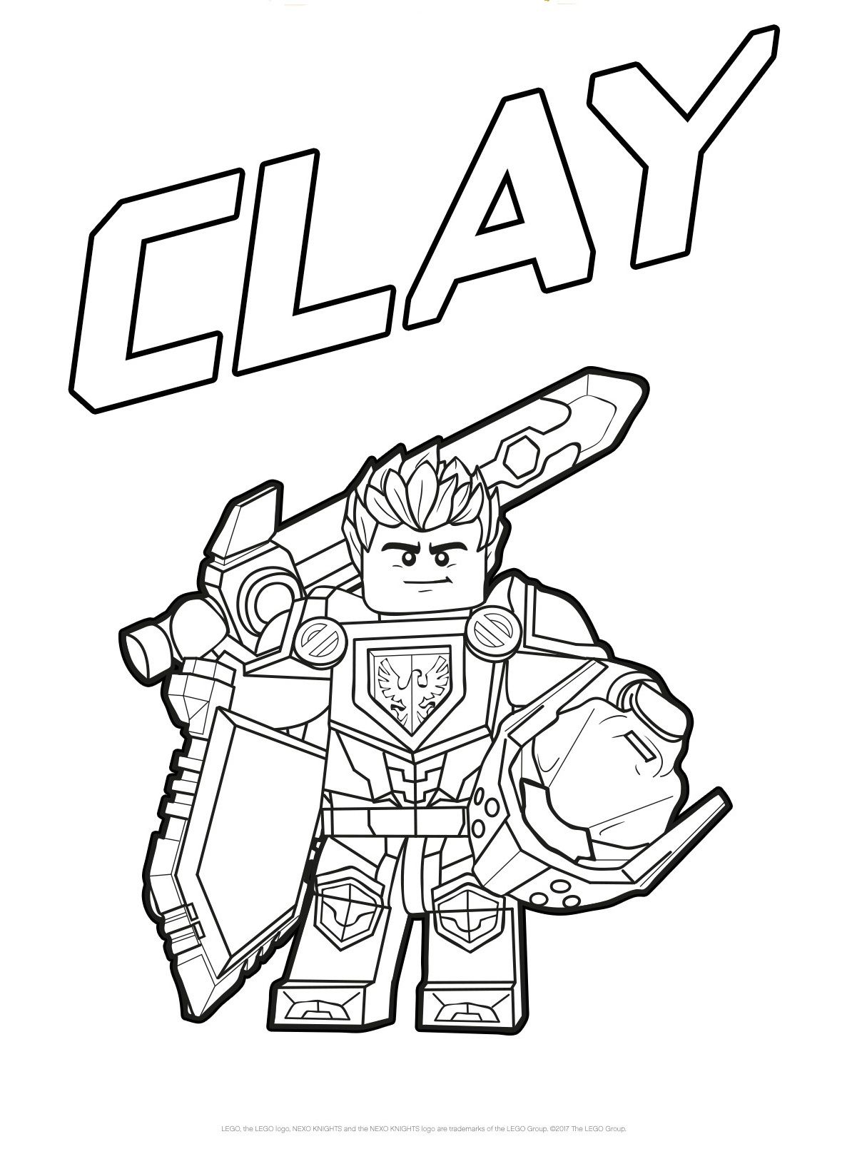 Nexo Knights Clay Coloring Pages Lego Coloring Pages Coloring Pages Cool Coloring Pages