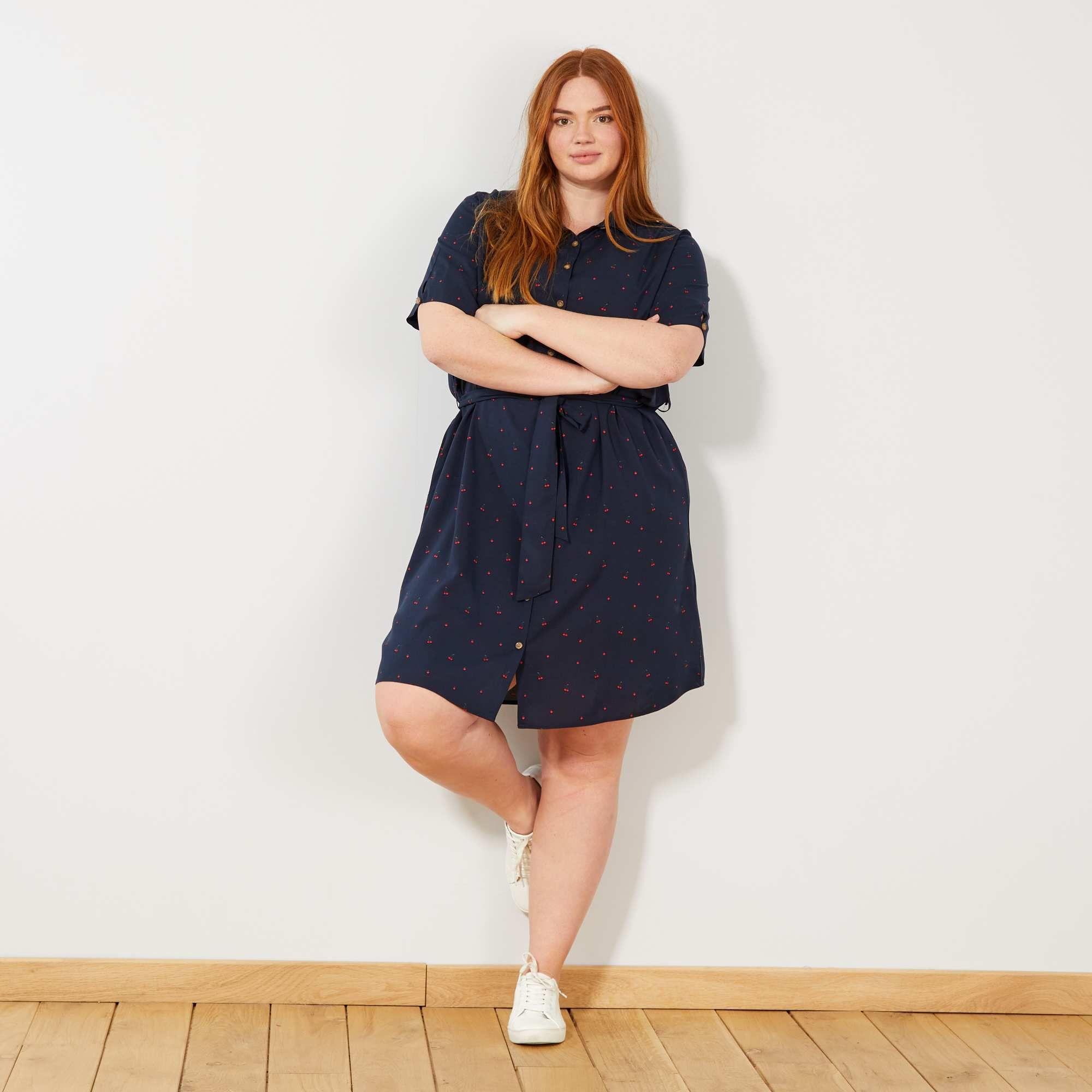 0155c49150d15c Abito camicia stampato nel 2019   COLLEZIONE CURVY   Dresses, Shirt ...