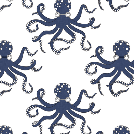 delft_octopus fabric by holli_zollinger on Spoonflower - custom ...
