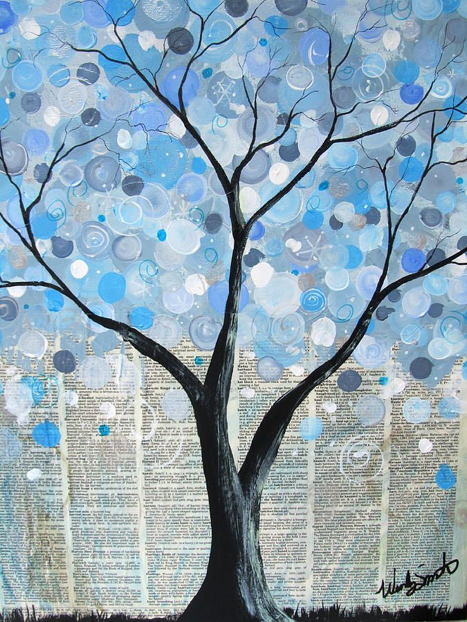 Winter Bubble Tree Painting