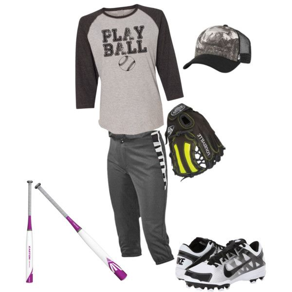 play ball by emily-atkins on Polyvore featuring polyvore fashion style NIKE Zephyr The North Face EASTON