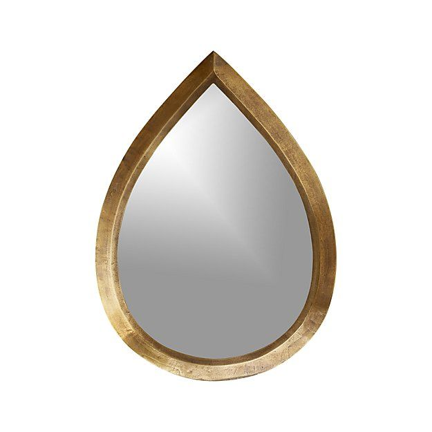 Bathroom Mirrors Crate And Barrel kasbah teardrop brass wall mirror - crate and barrel | wall