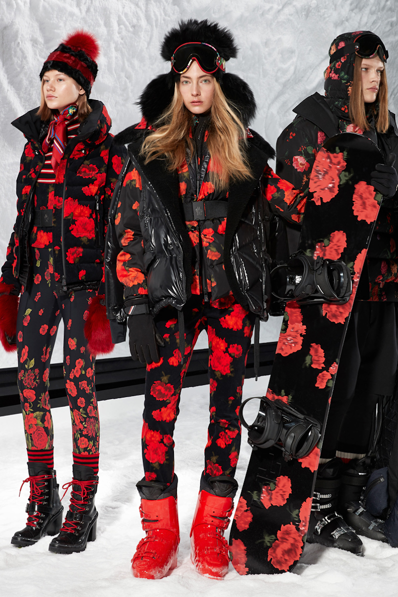 Retain your feminine style while skiing with this black and