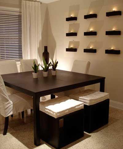 C mo decorar la casa con velas fotos e ideas ideas de - Comedores decorados modernos ...