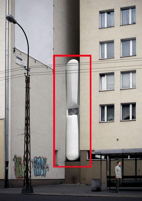 Thinnest Flat In The World – The Keret House in Wola / Poland > Baukunst, Design und so, Fashion / Lifestyle, Illustrationen > apartment, architecture, crib, flat, polen, small, thin