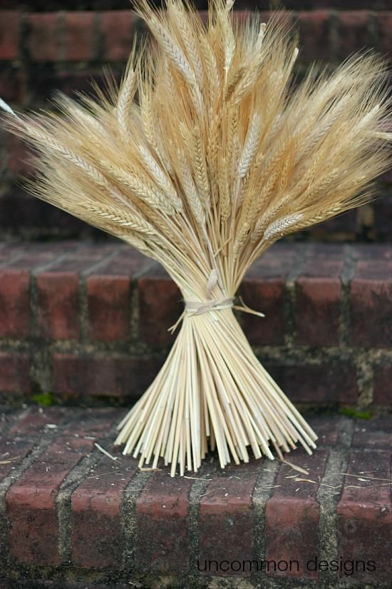 A Beautiful And Simple Compliment To Your Fall Or Thanksgiving Table And Decor This Diy Wheat Bu Wheat Bundle Thanksgiving Table Decorations Wheat Decorations