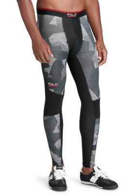 POLO Sport Mens Compression Jersey Tights Leggings