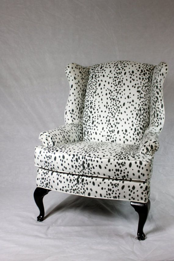 Best Sold Can Replicate Dalmatian Fabric Faux Suede Wing Back 400 x 300