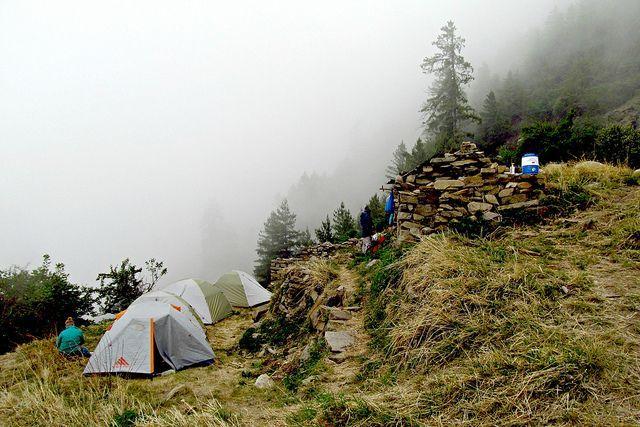 foggy camp vibes