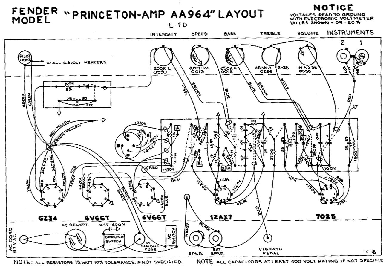 Schematic princeton reverb Fender Amp