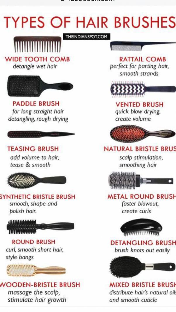 Naturalmakeup Makeupideas Eyecolor In 2020 Types Of Hair Brushes Best Hair Brush Diy Natural Hair Styles