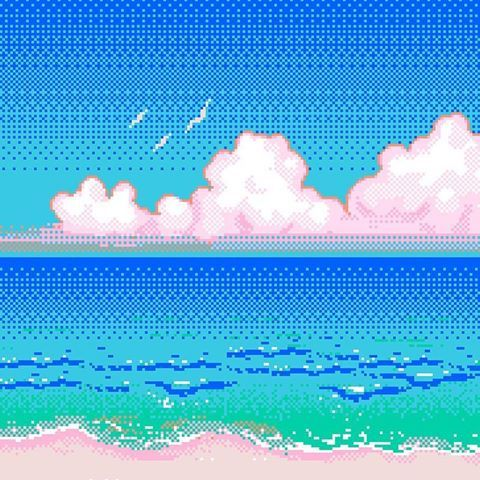 Image result for pixelated beach