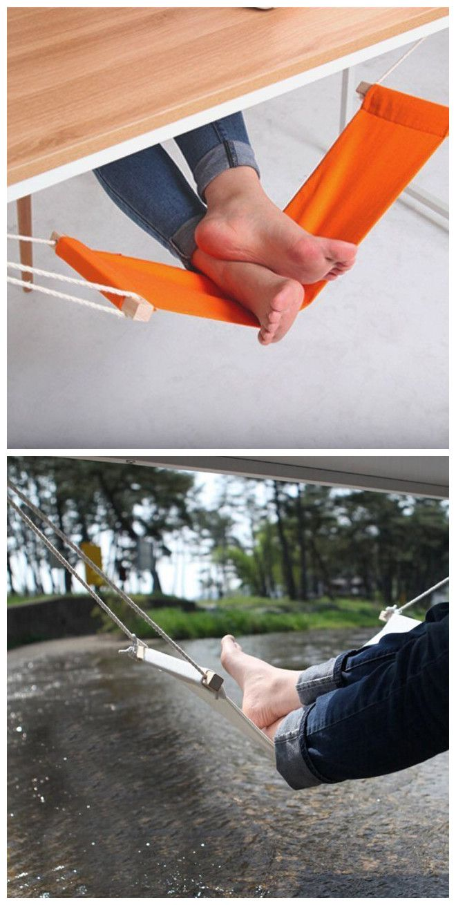 Office Relaxing Foot Pedal Hammock | Foot rest, Desks and Gadget
