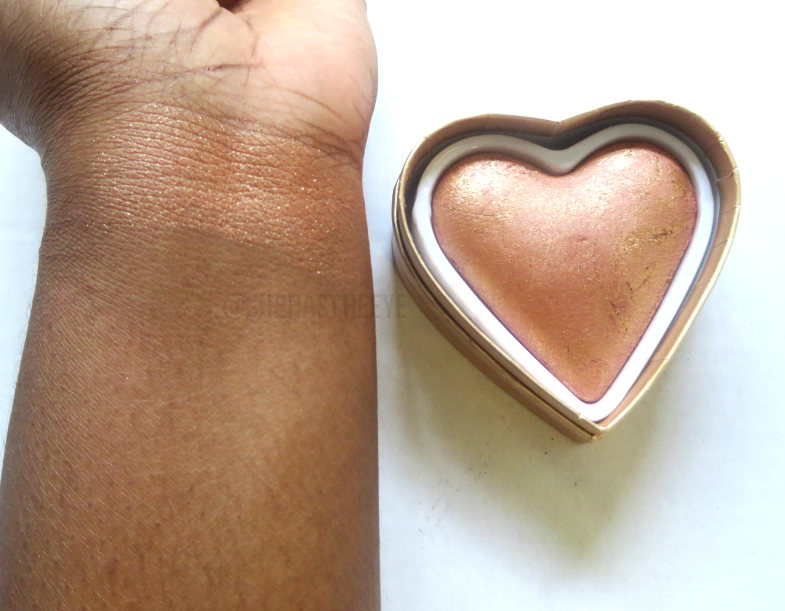 Makeup Revolution 'I Heart Makeup' Highlighter! | Cocoa Swatches | Makeup Packaging | Too Faced Dupe