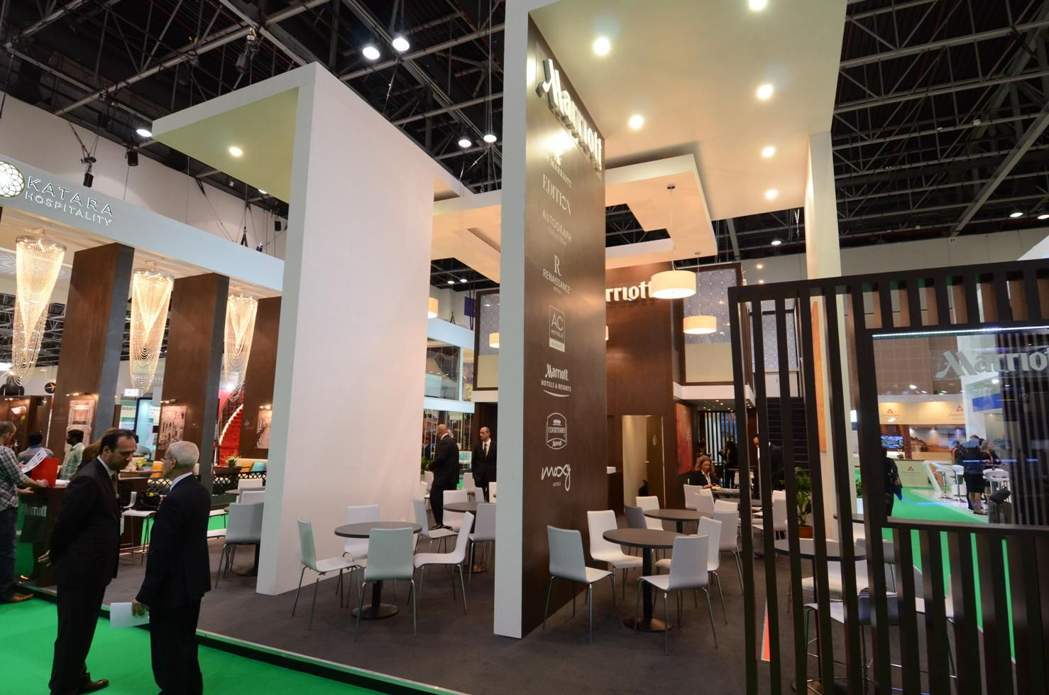 Design installation of trade show booth at ATM Dubai by Elevations