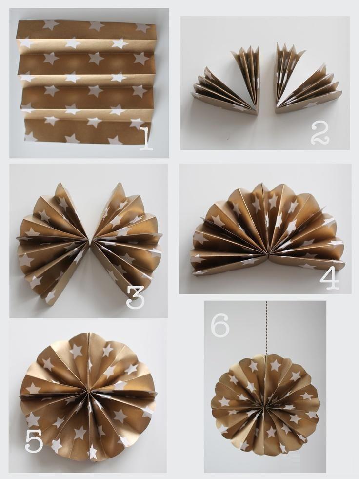 Christmas Tree Decoration Idea With Paper Diy Artigianato Di