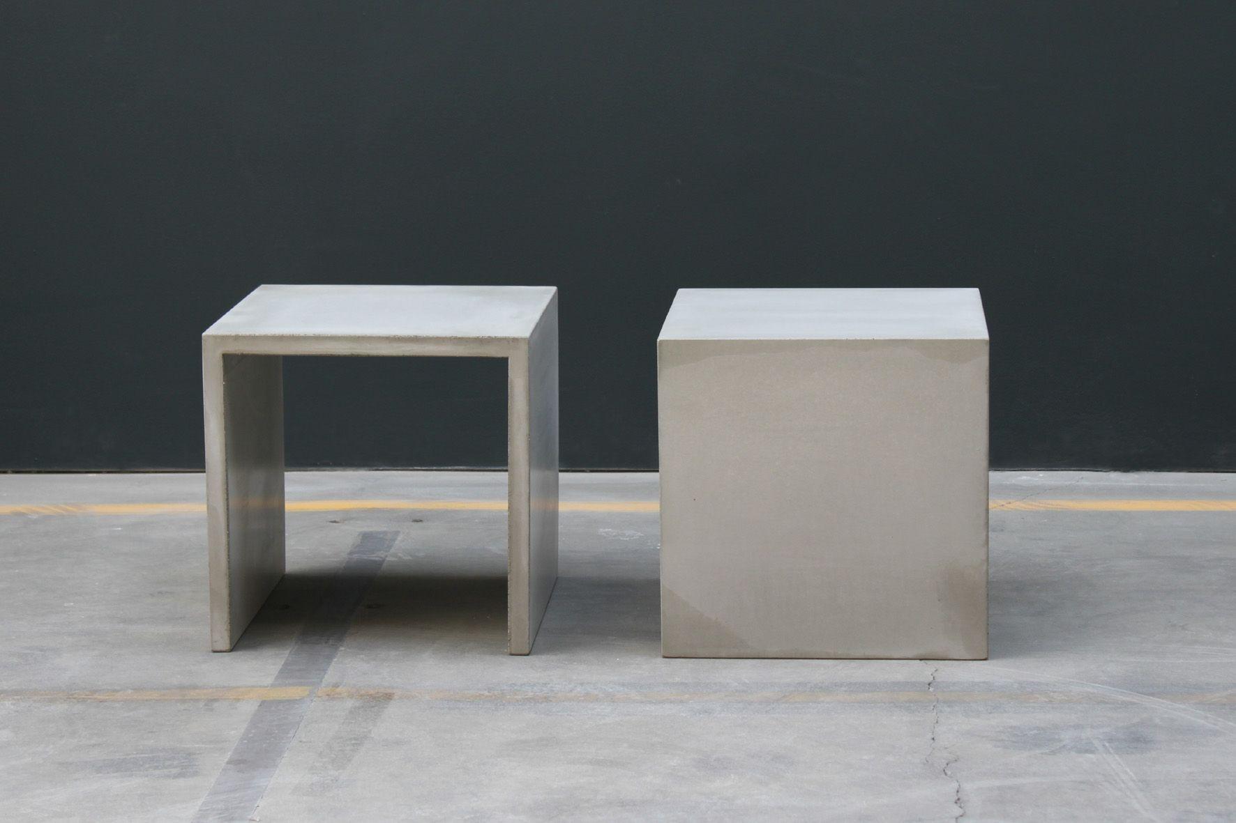 hocker beistelltisch betonoptik beton grey dekoration. Black Bedroom Furniture Sets. Home Design Ideas