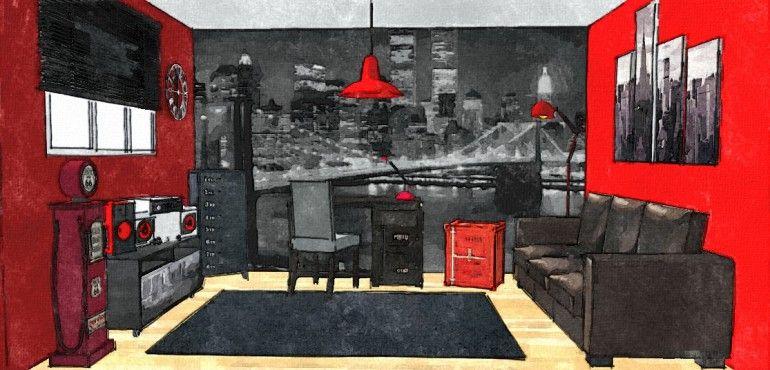 Chambre Adolescent Style Urbain Deco Chambre Enfant Idee