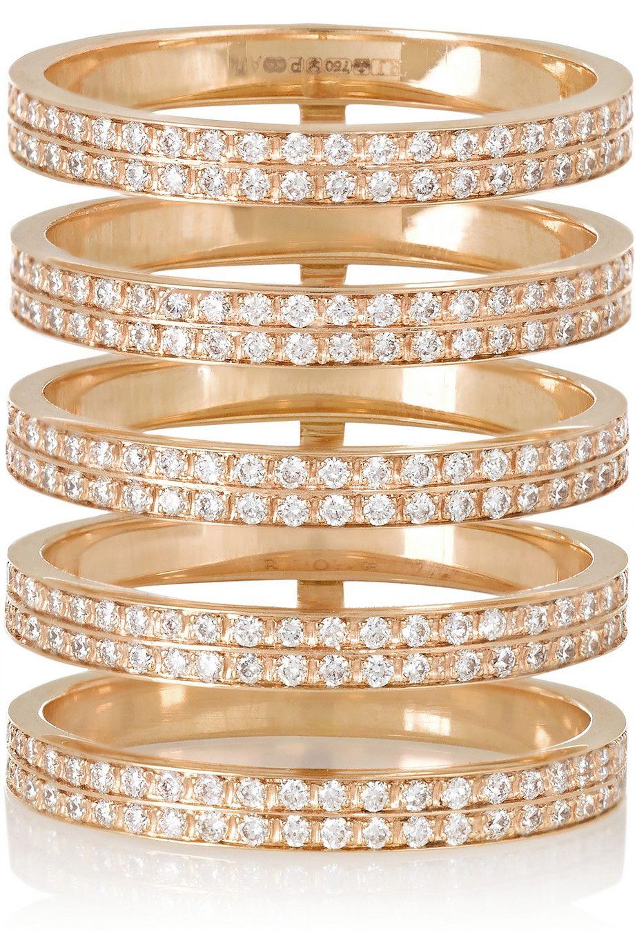 Berbre Technique 18 Carats Rose Bague En Diamant Or - 54 Repossi u2enrzh