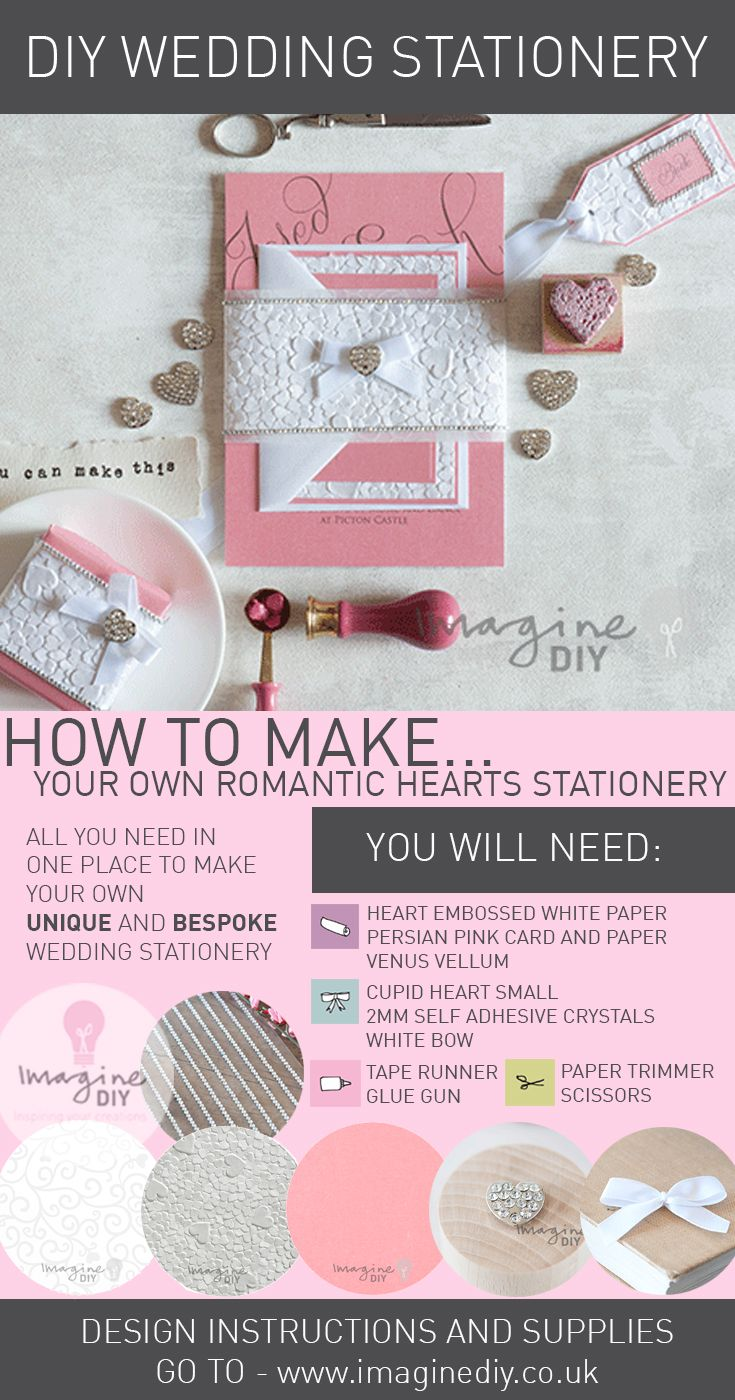 How to make heart embossed stationery wedding planning
