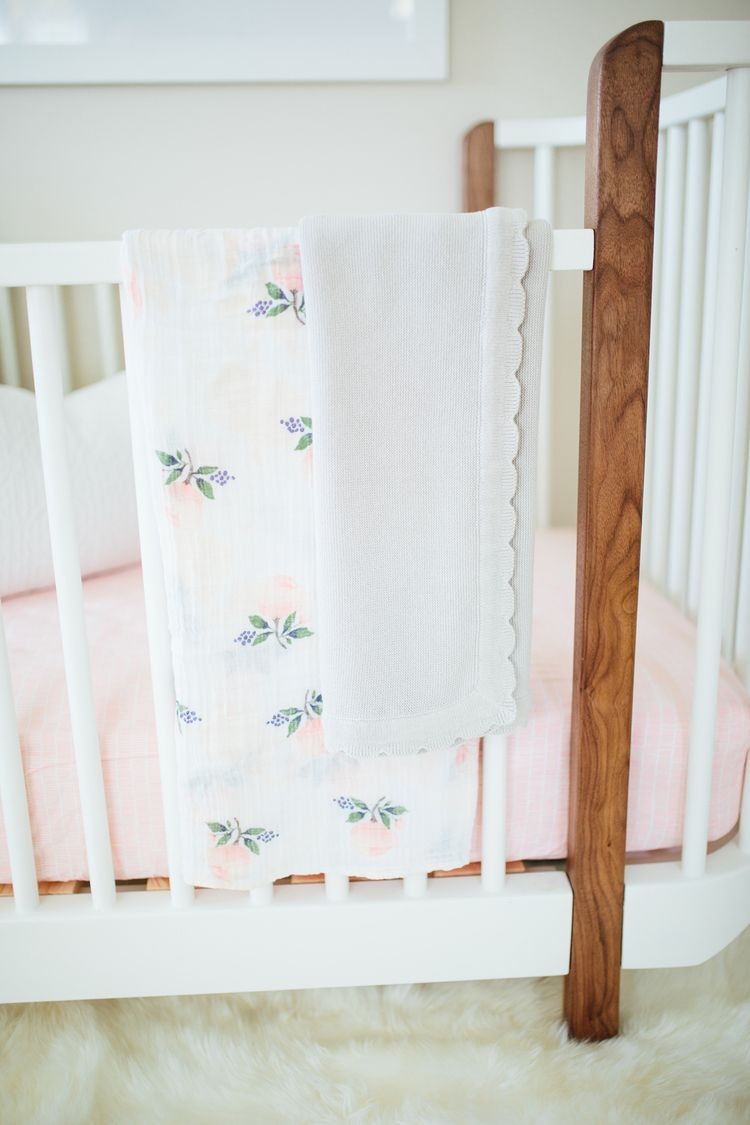 Baby Girl Nursery Detail   Akin Design Studio   Swaddle By Little Unicorn
