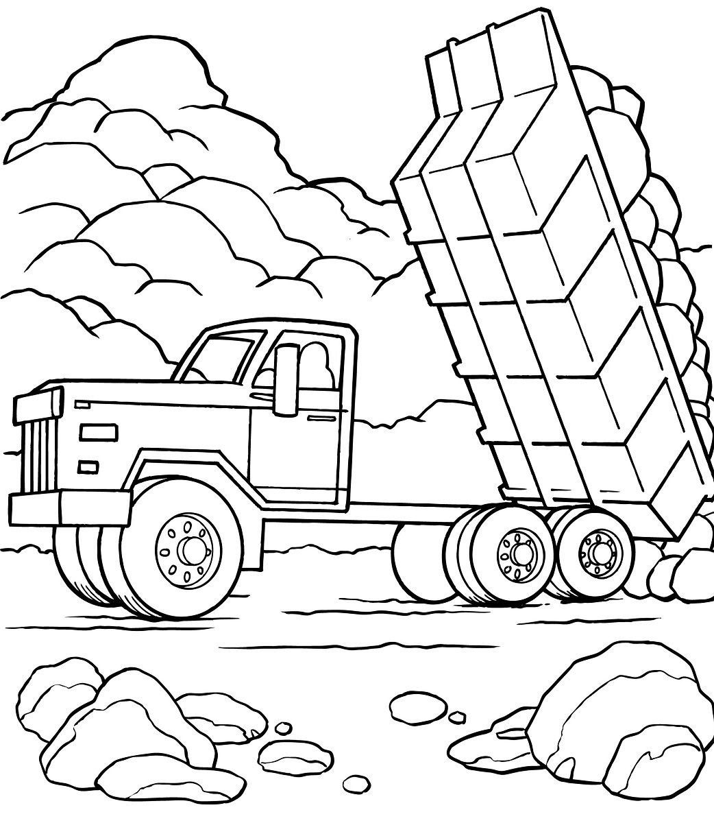 Dump Truck Pictures For Kids Monster Truck Coloring Pages Train