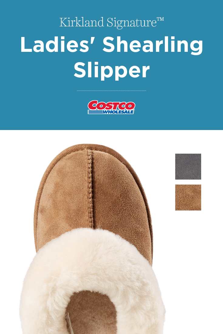 323af99567701 Kirkland Signature Ladies' Shearling Slipper | Costco Fashion in ...