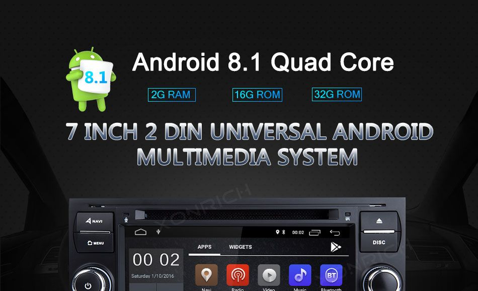 2 Din Android 8 1 Car Dvd Player Multimedia For Ford Fiesta Ford