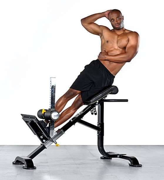 Surprising Side Bends On A Hyperextension Bench Upper Abs Ibusinesslaw Wood Chair Design Ideas Ibusinesslaworg