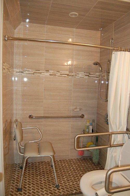 Barrier Free Shower Traditional Bathroom Handicap Bathroom