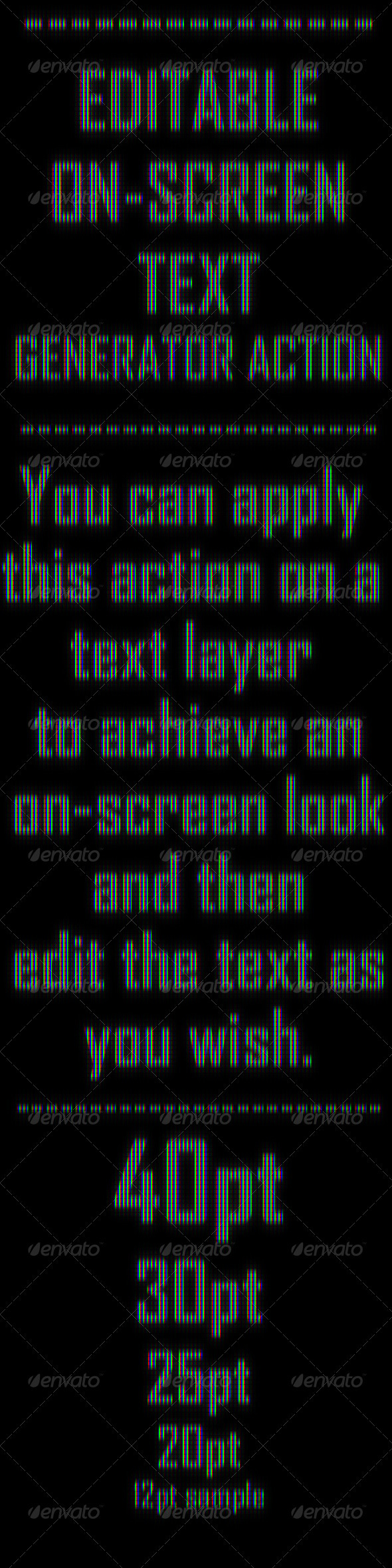 Editable OnScreen Text Effect Generator Action