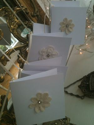 Antique Lace Flower Cards