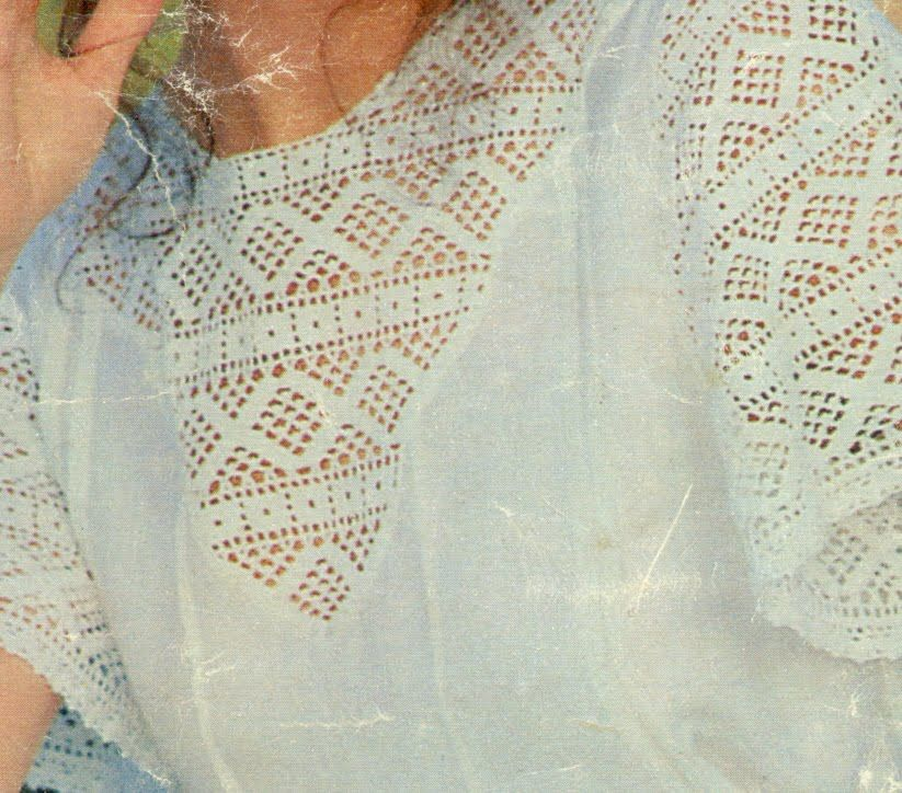 Gráficos para tejer Encaje a ganchillo para blusa | crochet ...