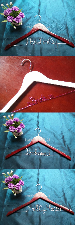 Personalized Wedding Hanger / Brides Hanger/Bridesmaids Hanger/Cusomized Hanger/ SHIPS FROM CN