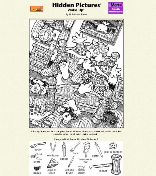 For Dry Erase Book Hidden Pictures Worksheets For Kids Hidden Picture Puzzles Find hidden picture math worksheets