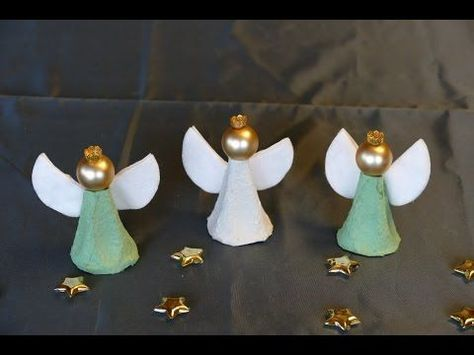 Engel / angel basteln aus Eierschachteln – super einfach! Basteln mit Kindern