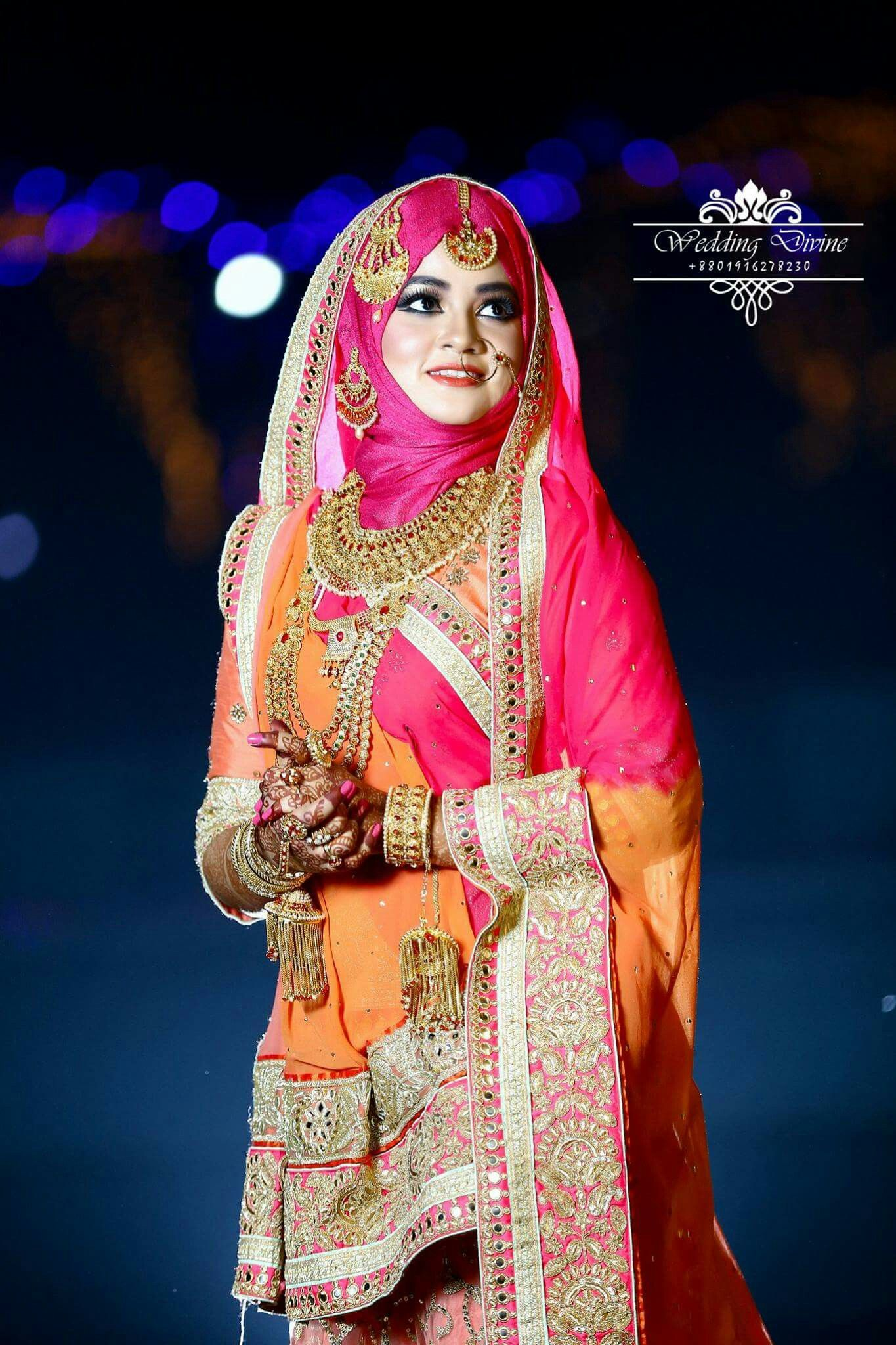 Wedding inspo  Indian bridal dress, Stylish hijab, Muslim brides