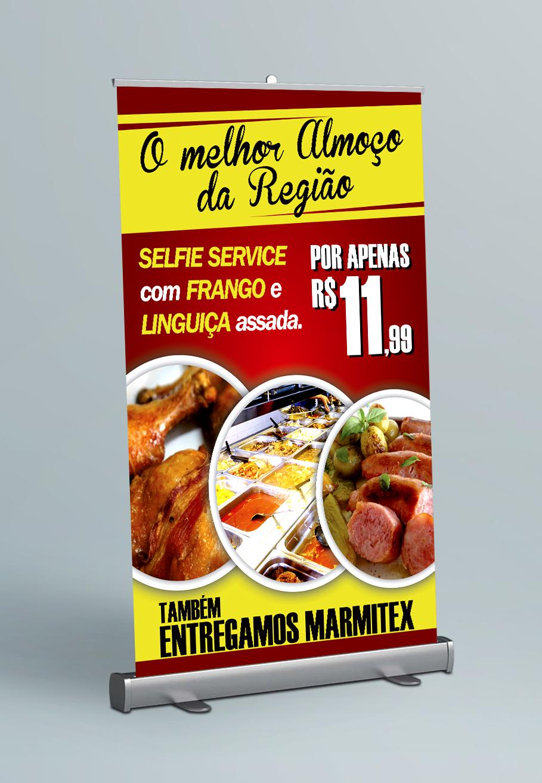 Banners Empresa Restaurante Liberdade Formato 120x80cm