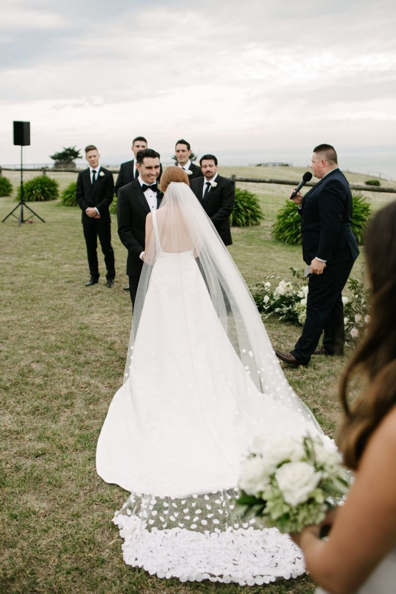 Raffaele Ciuca Real Bride Jessica Wore Our Minimalist Satin A Line Mccall Wedding Dress