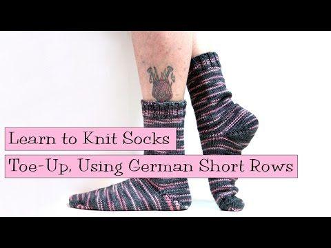 Toe Up Socks Using German Short Rows V E R Y P I N K C O M