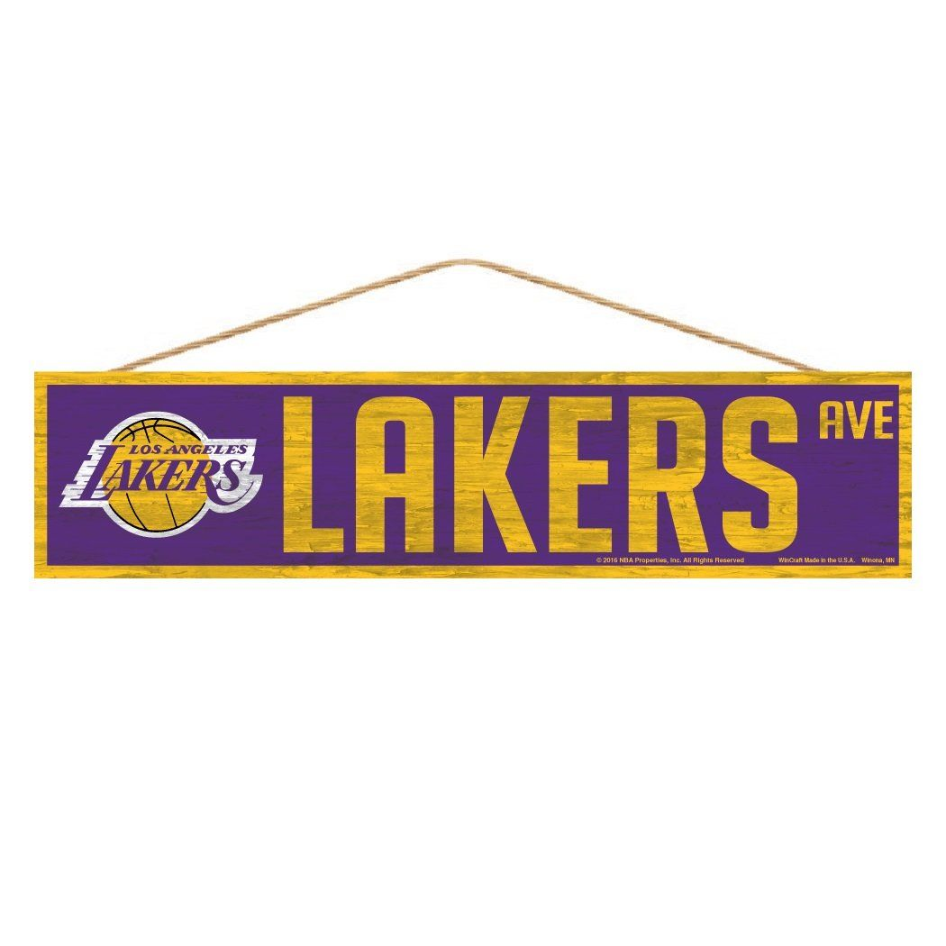 Los Angeles Lakers Sign 4x17 Wood Avenue Design in 2021   Lakers sign ...